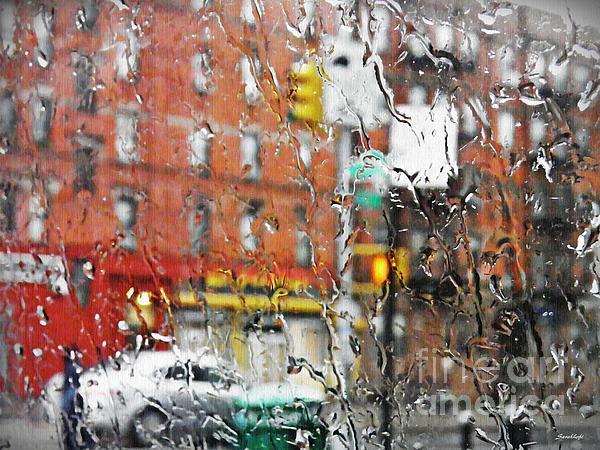 Rain Photograph - Rainy Day Nyc 2 by Sarah Loft