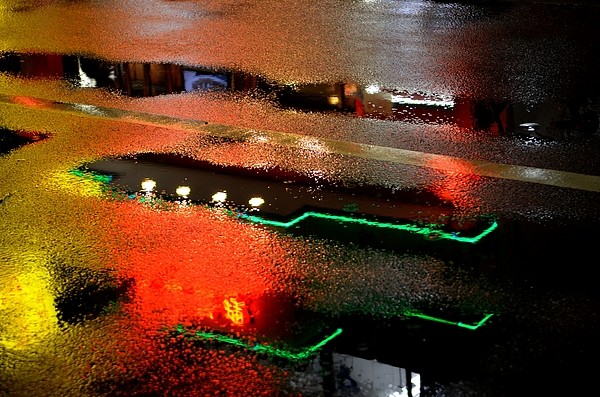 Neon Photograph - Rainy Night In Chinatown by Dean Harte