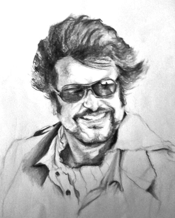 Rajnikanth Drawing by ilendra Vyas