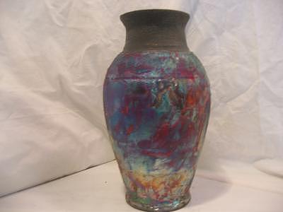 Raku Vase Ceramic Art - Raku Vase by Michael Anthony-Nagy