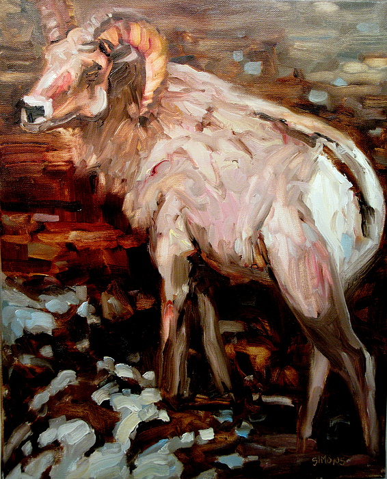 Animal Paintings Painting - RAM by Brian Simons