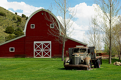 Still Life Photograph - Ranch Barn And Old Truck by Gene Mace