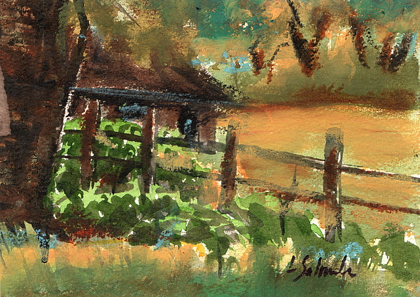 Ranch Painting - Ranch House by Laurie Salmela