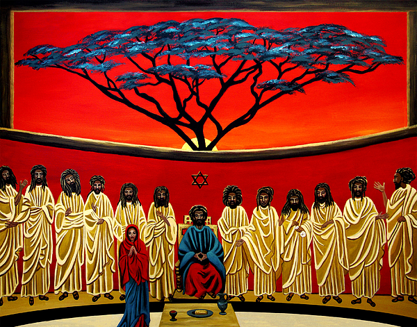 Last Supper Painting - Rastafarian Last Supper by EJ Lefavour