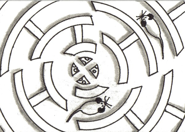 Rat Drawing - Rat Race Mouse Maze by Joshua Hullender