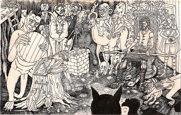 Diplomat Drawing - Rathbone Meets The Forest Lord by Al Goldfarb