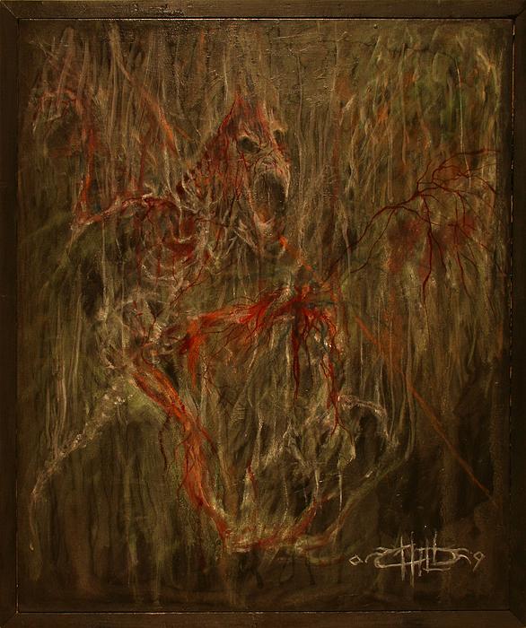 Dark Painting - Raven by Brian Child