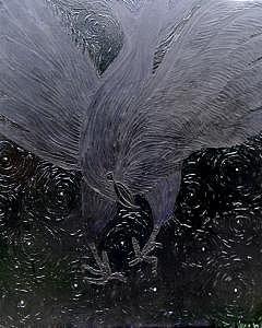 Raven Painting by Christina Varga