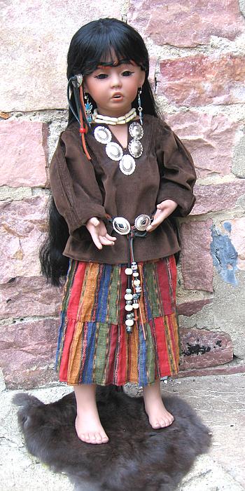 Native American Mixed Media - Raven by Jan Christensen