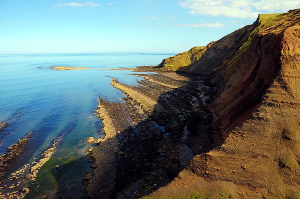 Landscape Photograph - Ravenscar Cliffs by Svetlana Sewell