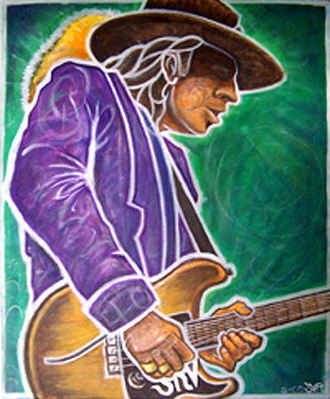 Stevie Ray Vaugn Painting - Ray For Josh by Jeff Troldahl