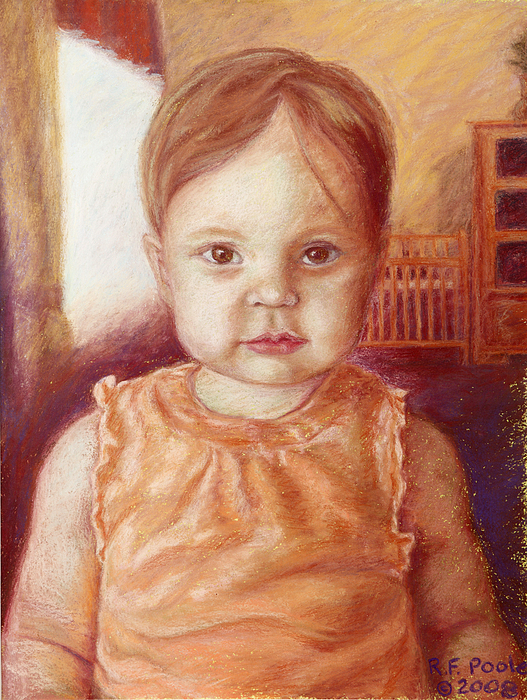Child Pastel - Raylee Ann by Rebecca Poole