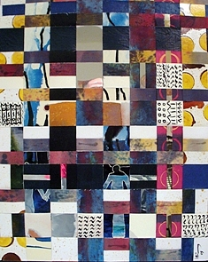 Spiritual Painting - Reading Between Lines by Mounir Lakkis