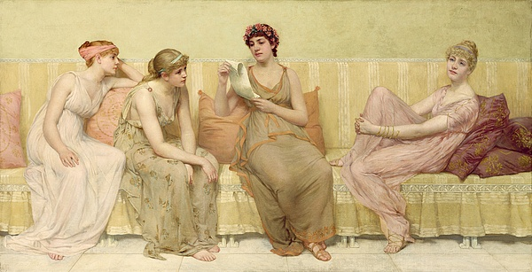 Reading Painting - Reading The Story Of Oenone by Francis Davis Millet
