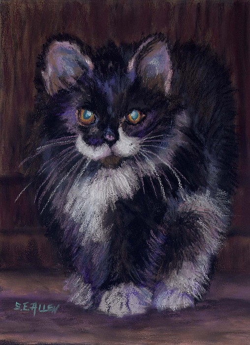 Kitten Painting - Ready For Trouble by Sharon E Allen