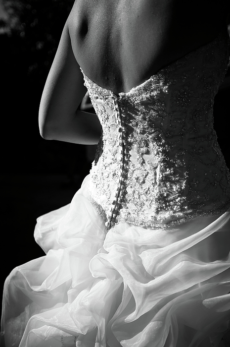 Adult Photograph - Rear View Of Bride by John B. Mueller Photography