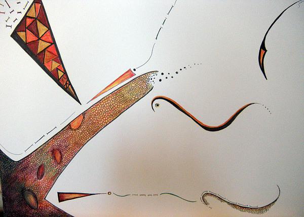 Abstract Drawing - Reason8 by Jaye Beaton