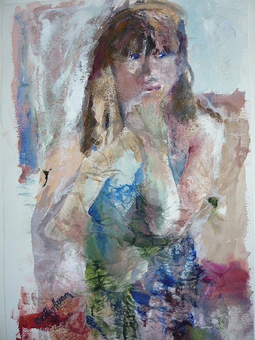 Portrait Painting - Rebecca by Dorothy Herron