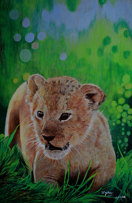 Lion Painting - Rebirth by Don MacCarthy
