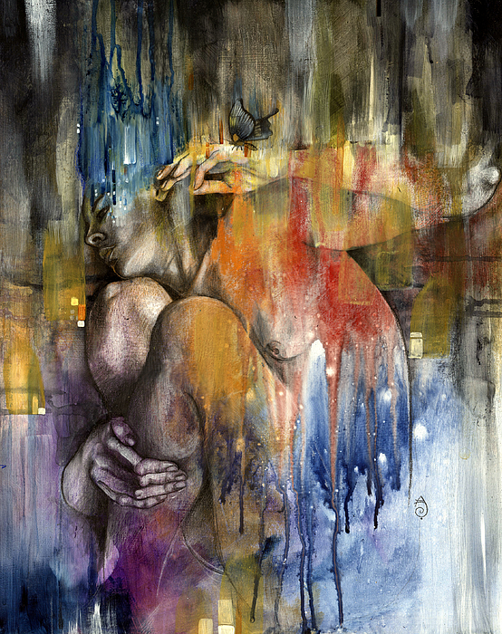 Abstract Painting - Rebirth by Patricia Ariel
