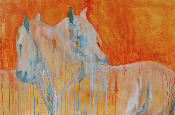 Horse Portraits Painting - Reciprocity by Jani Freimann