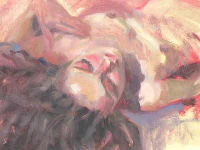 Figurative Painting - Reclining Nude by Merle Keller