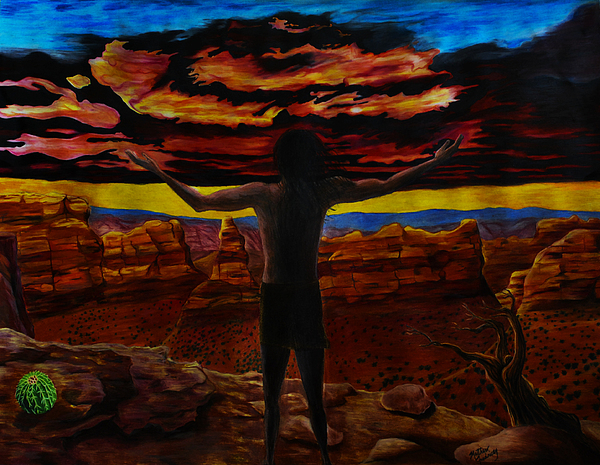 Sunset Drawing - Recognition Of The Truth by Matthew Fredricey