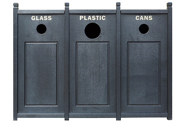 Recycle Photograph - Recycle Bins For Glass Plastic Cans by David Gn