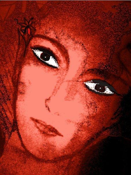 Red Angel Digital Art by Nadia Anjam