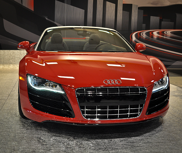 Red Audi R8 Seattle Auto Show 2011 Photograph By Ronda Broatch