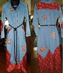 Red Bandana Coat      Email Me For Price Size Etc  Tapestry - Textile by Janet Gioffre Harrington