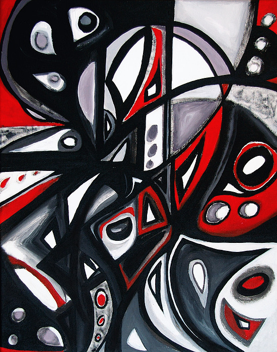 Red Black White Painting By Emily Osborne