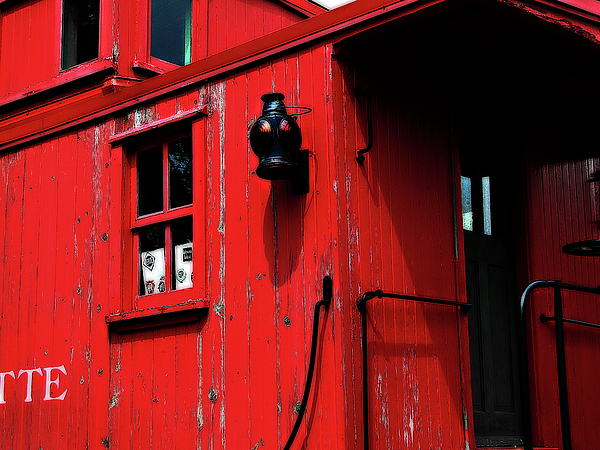 Michigan Photograph - Red Caboose by Scott Hovind