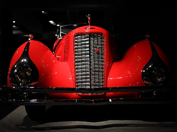 Transportation Photograph - Red Cadillac by Transportation Photographs