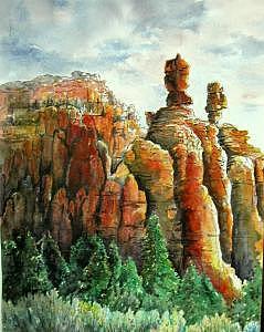 Red Canyon Miyra And Vet Hoodoos Print by Veda Hale