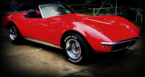 Corvette Photograph - Red Corvette by Emily Kelley