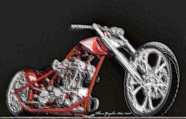 Canadian Artists Digital Art - Red Embossed Custom by Wayne Bonney