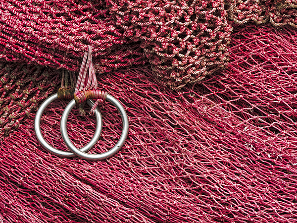Fishing Photograph - Red Fishing Nets by Carol Leigh