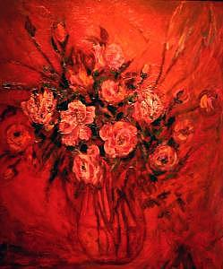 Floral Painting - Red Flowers by Tatiana Yakovleva