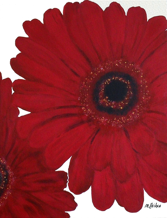 Painting Painting - Red Gerber Daisy by Marsha Heiken
