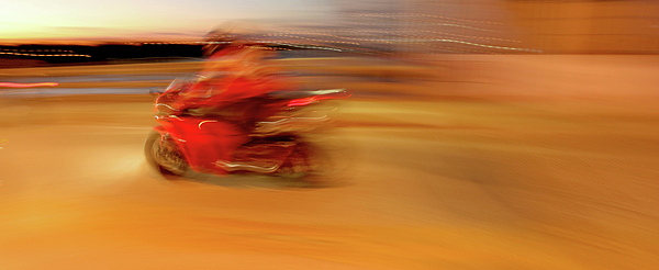 Superbike Painting - Red Hot by Glennis Siverson