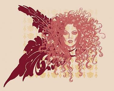 Fashion Illustration Digital Art - Red by Lara Wolf