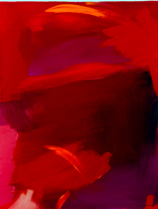 Abstract Painting - Red On Red by Angelina Marino