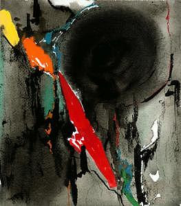 Red Over Black Painting by Ralf  Broughton