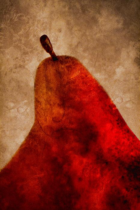Pear Photograph - Red Pear II by Carol Leigh