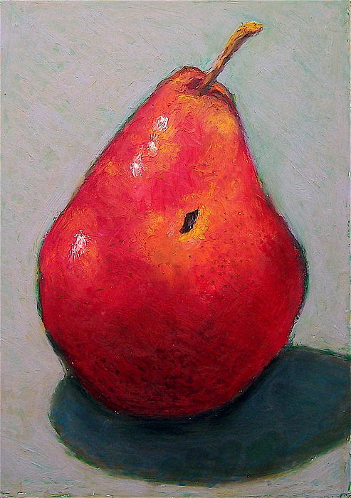 Pear Pastel - Red Pear by Joyce Geleynse