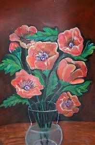 Red Poppies Painting by Ruth Olivar Millan