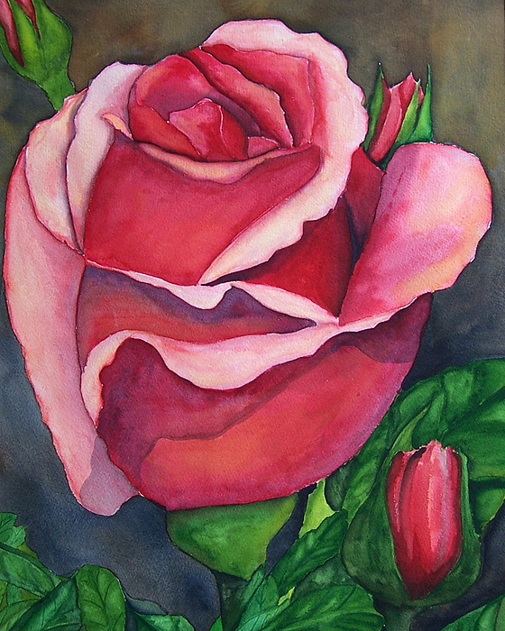 Red Rose Painting Painting - Red Red Rose by Robert Thomaston