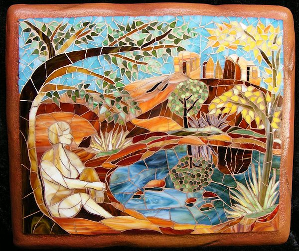 Mosaic Mixed Media - Red Rock Journey by Annie Thomas-Burke