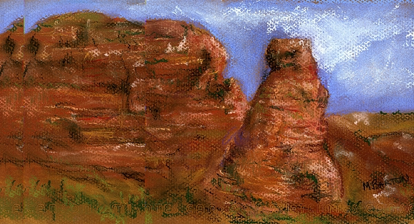 Desert Painting - Red Rocks by Marilyn Barton